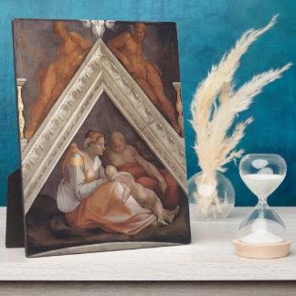 Michelangelo: The Ancestors of Christ: Zerubbabel Display Plaque