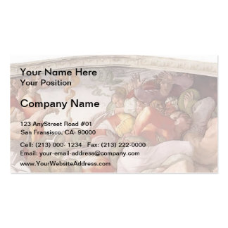 Michelangelo: The Brazen Serpent Double-Sided Standard Business Cards (Pack Of 100)