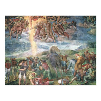 Michelangelo- The Conversion of Saul Postcard