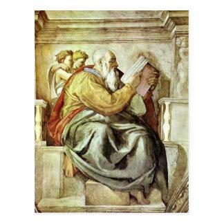 Michelangelo: The Prophet Zechariah Postcard