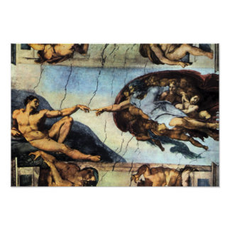 Michelangelo Unterberger - Creation of Adam Poster