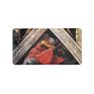 Michelangelo Unterberger - The ancestors of Christ Address Label