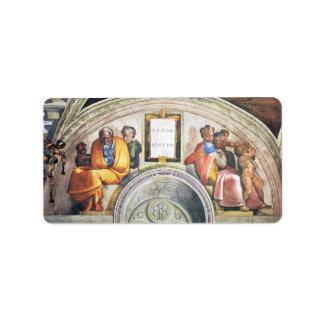Michelangelo Unterberger - The ancestors of Christ Personalized Address Label