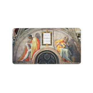 Michelangelo Unterberger - The ancestors of Christ Personalized Address Labels