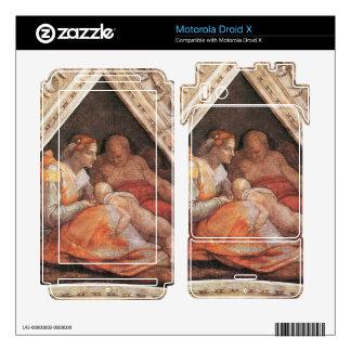 Michelangelo Unterberger - The ancestors of Christ Skin For Motorola Droid X
