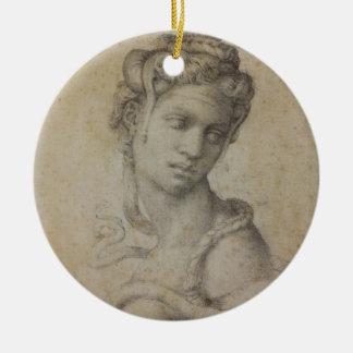 Michelangelo's Cleopatra Ceramic Ornament