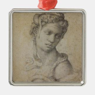 Michelangelo's Cleopatra Metal Ornament