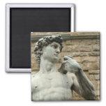 Michelangelo's David 1 2 Inch Square Magnet