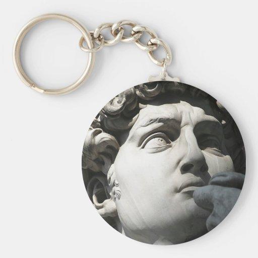 Michelangelo's David Basic Round Button Keychain
