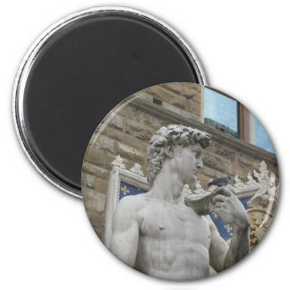 Michelangelo's David, Florence Italy 2 Inch Round Magnet