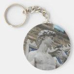 Michelangelo's David, Florence Italy Basic Round Button Keychain