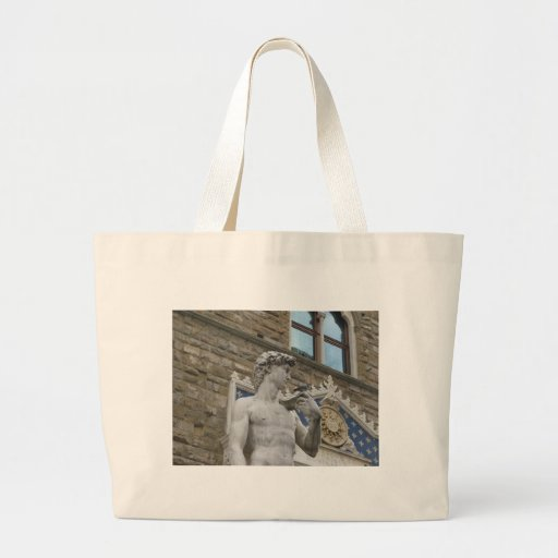Michelangelo's David, Florence Italy Large Tote Bag