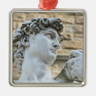 Michelangelo's David, Florence Italy Metal Ornament
