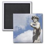 Michelangelo's David in the Piazza della 2 Refrigerator Magnet