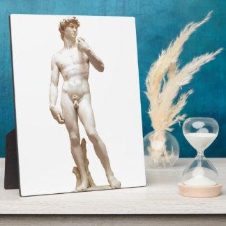 Michelangelo's David Sculpture Customized Plaque