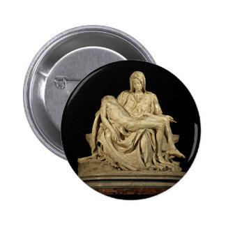 Michelangelo's Pieta 2 Inch Round Button