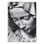 Michelangelo's Pieta detail of Virgin Mary's face Greeting Card