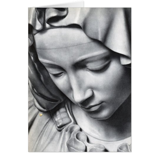 Michelangelo's Pieta detail of Virgin Mary's face Card