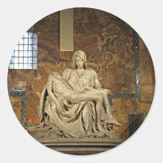 Michelangelo's Pieta in St. Peter's Basilica Classic Round Sticker