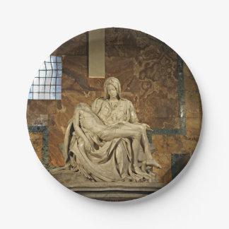 Michelangelo's Pieta in St. Peter's Basilica 7 Inch Paper Plate
