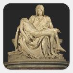 Michelangelo's 'Pieta' Round Stickers