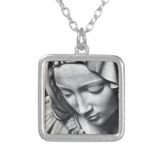 Michelangelo's Pieta Virgin Mary Pendant Necklace