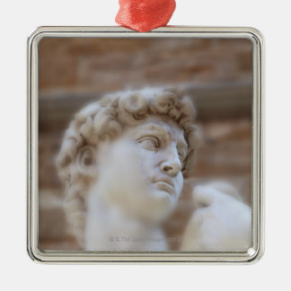 Michelangelo's statue DAVID detail close up view Christmas Ornament