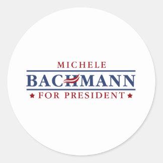 Michele Bachmann 2012 Classic Round Sticker