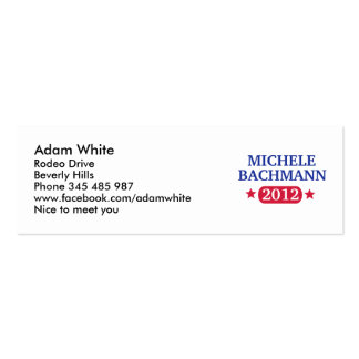 Michele Bachmann 2012 Mini Business Card