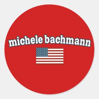 Michele Bachmann for America Classic Round Sticker