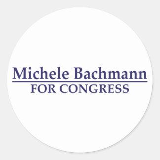 Michele Bachmann for Congress Classic Round Sticker