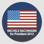 Michele Bachmann for President 2012 Classic Round Sticker