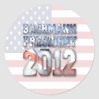 Michele Bachmann for President in 2012 Classic Round Sticker