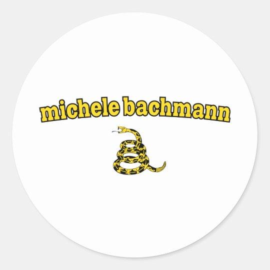 Michele Bachmann Gadsden Snake Classic Round Sticker