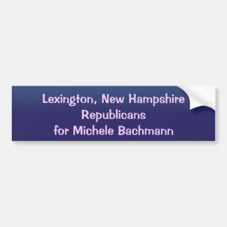 Michele Bachmann Lexington New Hampshire Bumper Sticker