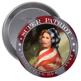 Michele Bachmann Super Patriot Pinback Button