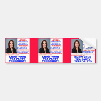 Michele Bachmann, Tea Party Terrorist Bumper Stickers