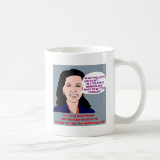 Michele Bachmann Wild-Eyed Tea Party Leader Mugs