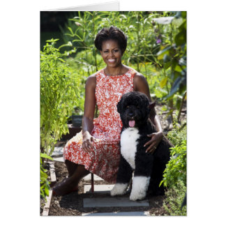 Michele & Bo Obama Card