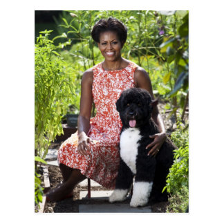 Michele & Bo Obama Postcard