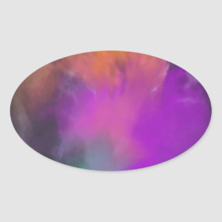 michele knox's art oval sticker