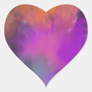 michele knox's art heart sticker