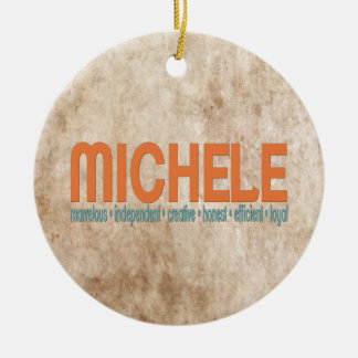 { Michele } Name Meaning Christmas Tree Ornament