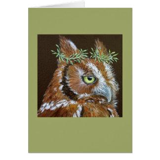 Michele the screech owl card