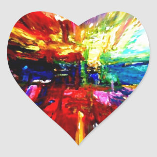 michele's multi colors heart sticker