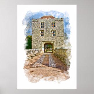 Michelham Priory Gatehouse Poster