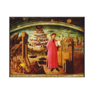 Michelinos Fresco Dante and the Devine Comedy Canvas Print