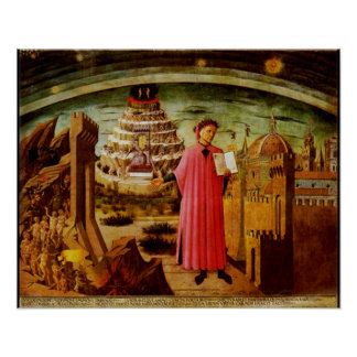 Michelinos Fresco Dante and the Devine Comedy Poster