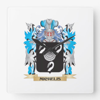 Michelis Coat of Arms - Family Crest Square Wall Clock