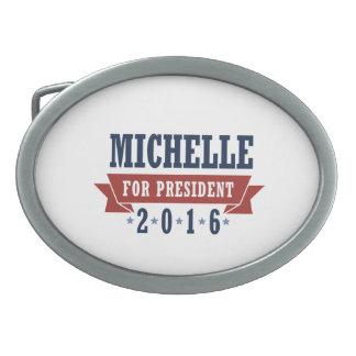 MICHELLE 2016 CERTIFIED RIBBON -.png Oval Belt Buckle